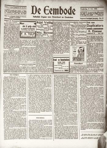 De Eembode 1935-10-31