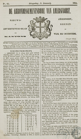 Arrondissementsbode van Amersfoort 1850-01-08