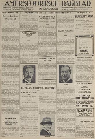 Amersfoortsch Dagblad / De Eemlander 1931-11-06
