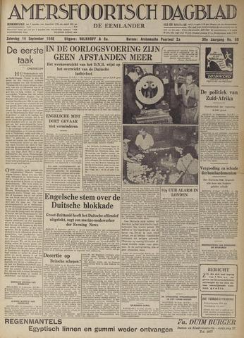 Amersfoortsch Dagblad / De Eemlander 1940-09-14