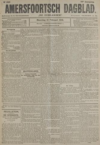 Amersfoortsch Dagblad / De Eemlander 1916-02-21