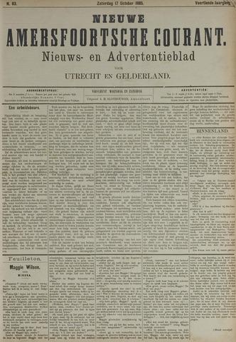 Nieuwe Amersfoortsche Courant 1885-10-17
