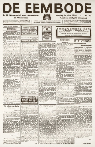 De Eembode 1924-10-24