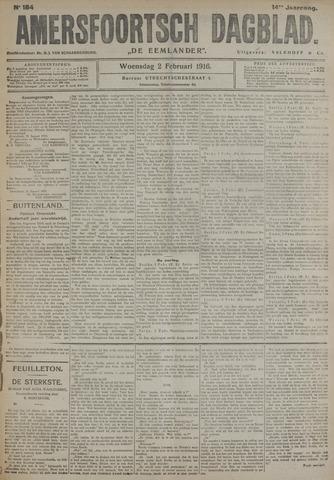 Amersfoortsch Dagblad / De Eemlander 1916-02-02