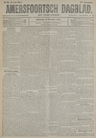 Amersfoortsch Dagblad / De Eemlander 1915-10-16