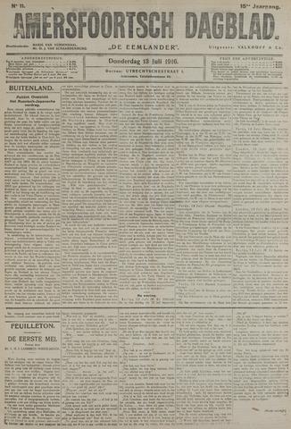 Amersfoortsch Dagblad / De Eemlander 1916-07-13