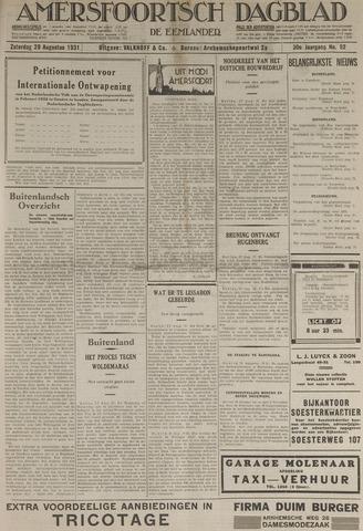 Amersfoortsch Dagblad / De Eemlander 1931-08-29