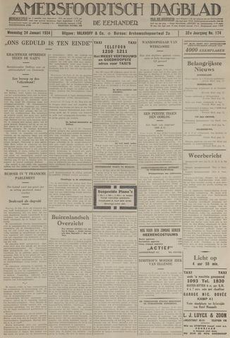 Amersfoortsch Dagblad / De Eemlander 1934-01-24