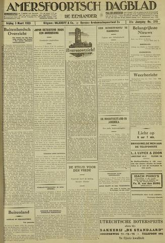 Amersfoortsch Dagblad / De Eemlander 1933-03-03