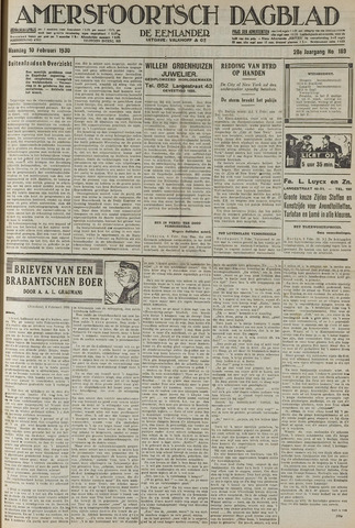 Amersfoortsch Dagblad / De Eemlander 1930-02-10