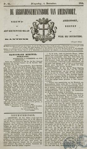 Arrondissementsbode van Amersfoort 1849-12-04