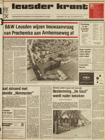 Leusder Krant 1985-07-04