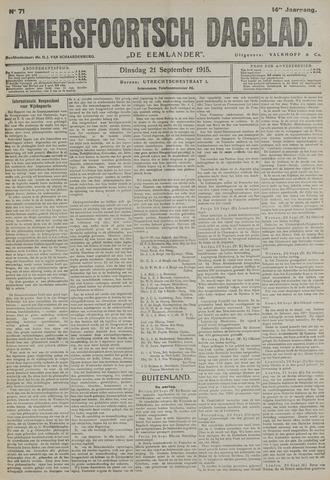 Amersfoortsch Dagblad / De Eemlander 1915-09-21