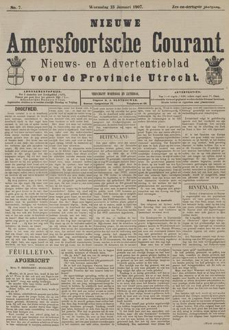 Nieuwe Amersfoortsche Courant 1907-01-23