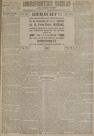 Amersfoortsch Dagblad / De Eemlander 1919-06-28