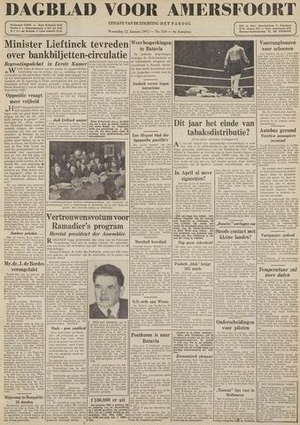 Dagblad voor Amersfoort 1947-01-22