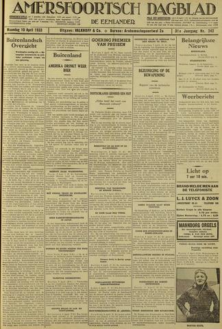 Amersfoortsch Dagblad / De Eemlander 1933-04-10