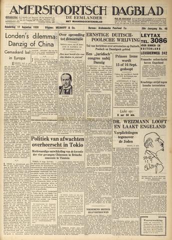 Amersfoortsch Dagblad / De Eemlander 1939-08-17
