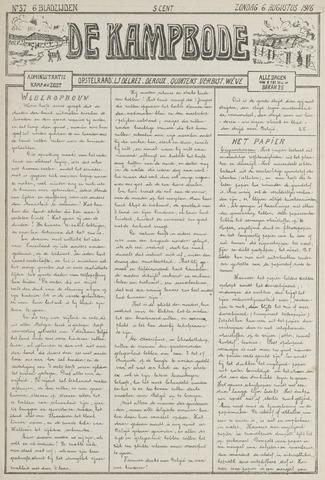 De Kampbode 1916-08-06