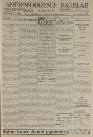Amersfoortsch Dagblad / De Eemlander 1933-11-14