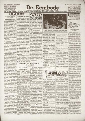 De Eembode 1938-08-20