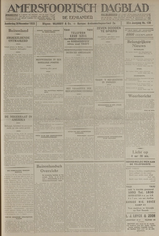 Amersfoortsch Dagblad / De Eemlander 1933-11-30