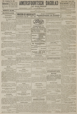 Amersfoortsch Dagblad / De Eemlander 1926-04-01