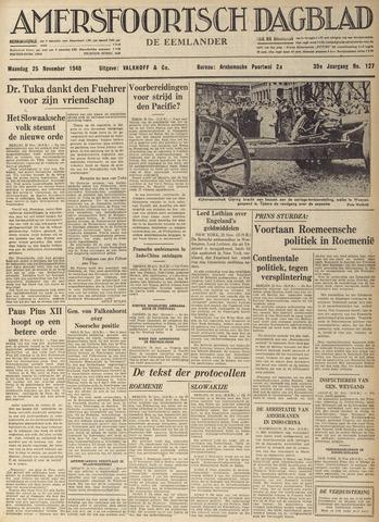 Amersfoortsch Dagblad / De Eemlander 1940-11-25