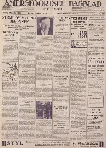 Amersfoortsch Dagblad / De Eemlander 1936-11-07