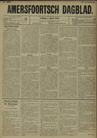 Amersfoortsch Dagblad 1909-04-09