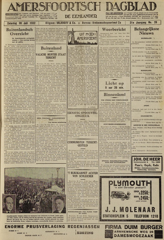 Amersfoortsch Dagblad / De Eemlander 1932-07-30