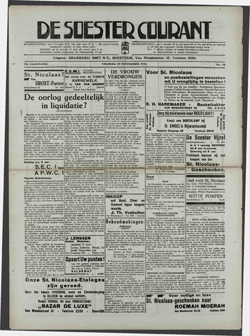 Soester Courant 1940-11-29