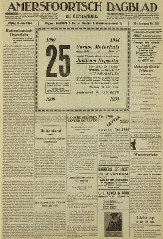 Amersfoortsch Dagblad / De Eemlander 1934-06-15