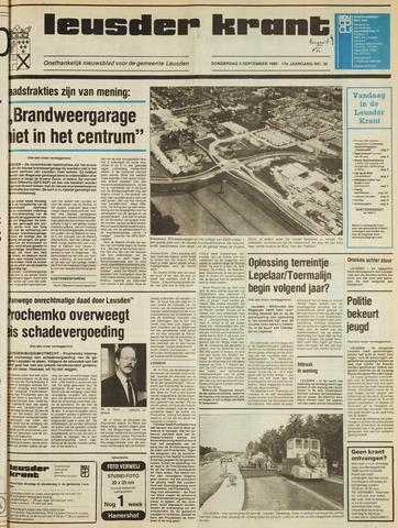 Leusder Krant 1985-09-05