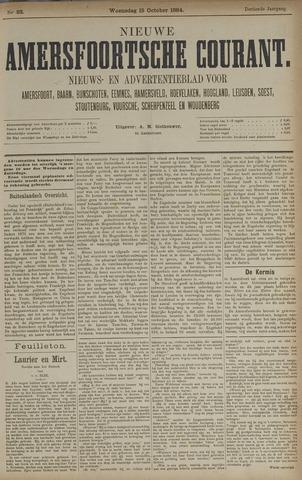 Nieuwe Amersfoortsche Courant 1884-10-15