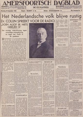 Amersfoortsch Dagblad / De Eemlander 1936-09-28