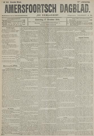 Amersfoortsch Dagblad / De Eemlander 1914-10-17