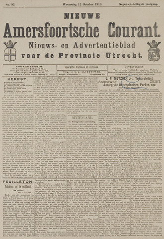 Nieuwe Amersfoortsche Courant 1910-10-12