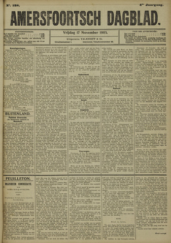 Amersfoortsch Dagblad 1905-11-17