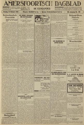Amersfoortsch Dagblad / De Eemlander 1932-02-16