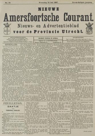 Nieuwe Amersfoortsche Courant 1907-07-24