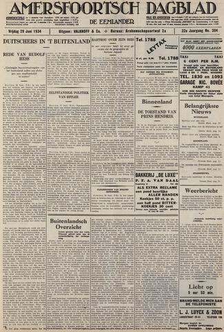 Amersfoortsch Dagblad / De Eemlander 1934-06-29