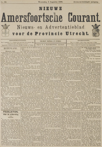 Nieuwe Amersfoortsche Courant 1898-08-03