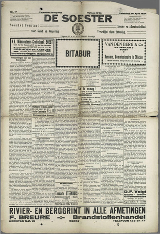 Soester Courant 1924-04-26