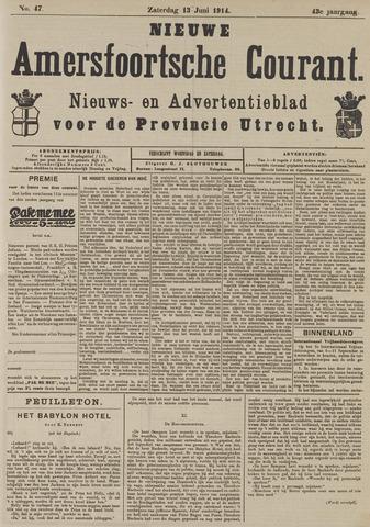 Nieuwe Amersfoortsche Courant 1914-06-13