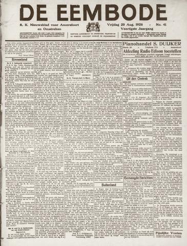 De Eembode 1926-08-20