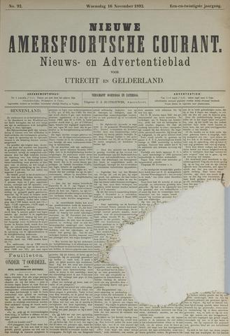 Nieuwe Amersfoortsche Courant 1892-11-16