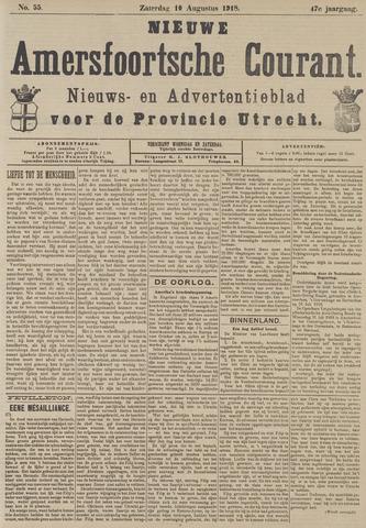 Nieuwe Amersfoortsche Courant 1918-08-10