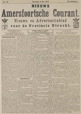 Nieuwe Amersfoortsche Courant 1919-05-03