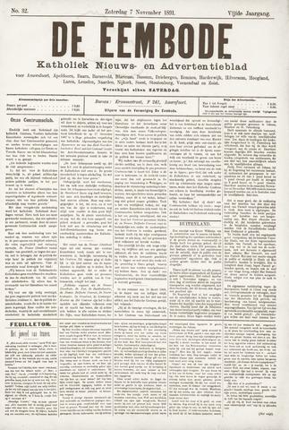 De Eembode 1891-11-07